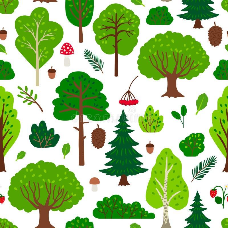 Modèle d'arbre forestier illustration stock