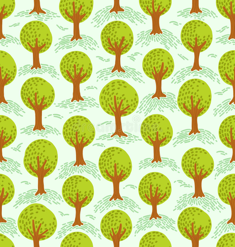 Modèle d'arbres illustration de vecteur