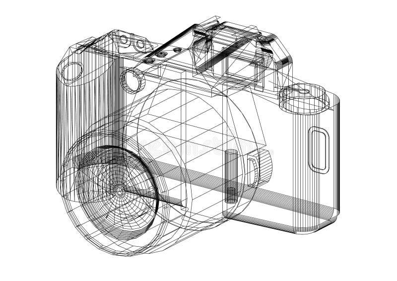 Modèle d'architecte d'appareil photo numérique - d'isolement illustration libre de droits