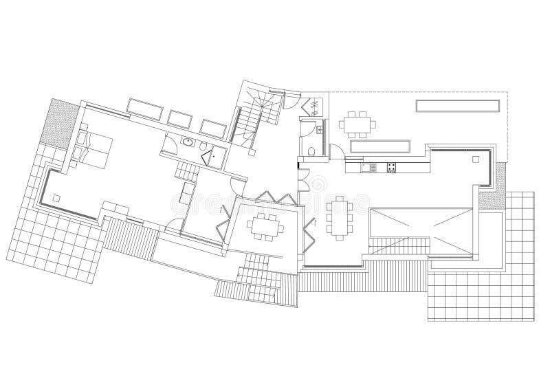 Modèle d'architecte de Chambre - d'isolement illustration libre de droits