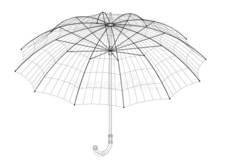 Modèle d'architecte de parapluie, d'isolement illustration libre de droits