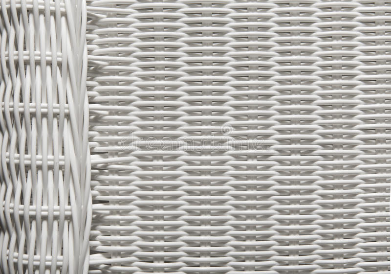 Modèle d'armure de texture de panier, fond en osier blanc photos libres de droits