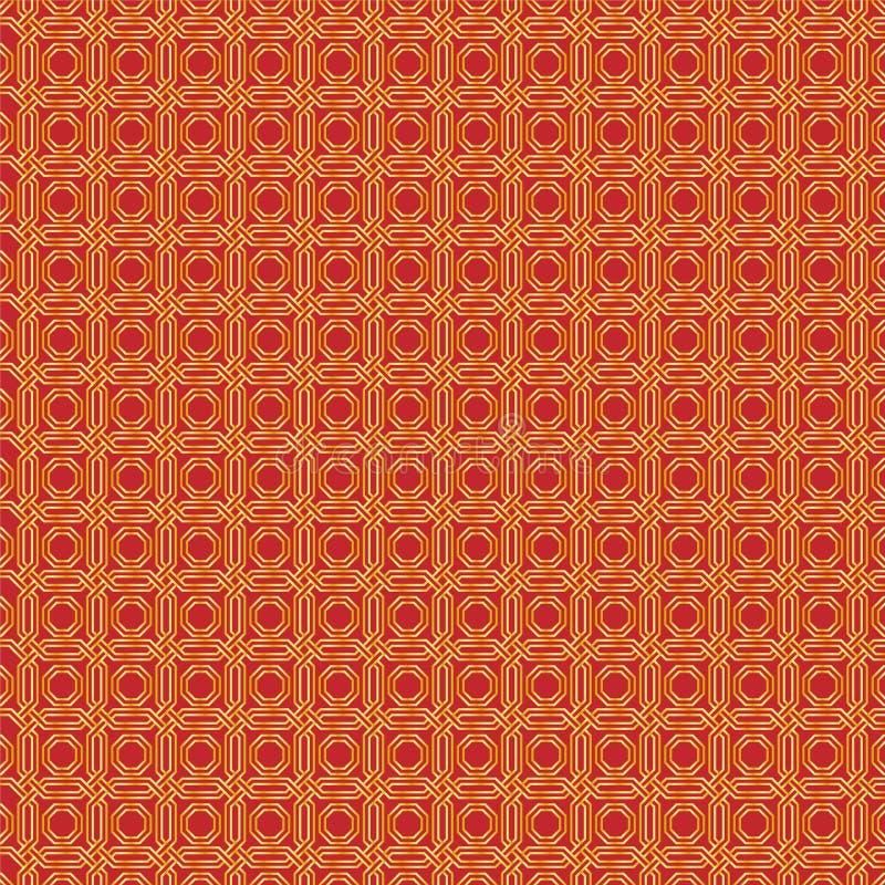 Modèle d'or de modèle avec un fond rouge comme fond abstrait illustration libre de droits