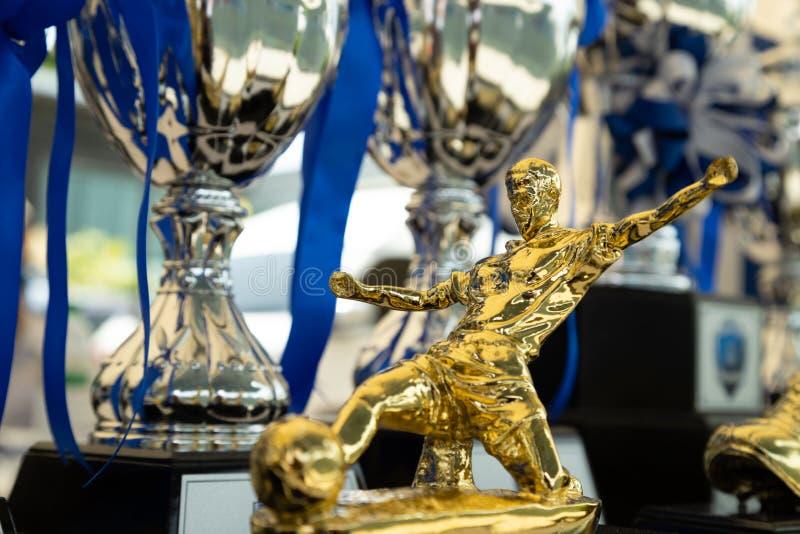 Modèle d'or de footballer pour le meilleur footballer de Matt image stock