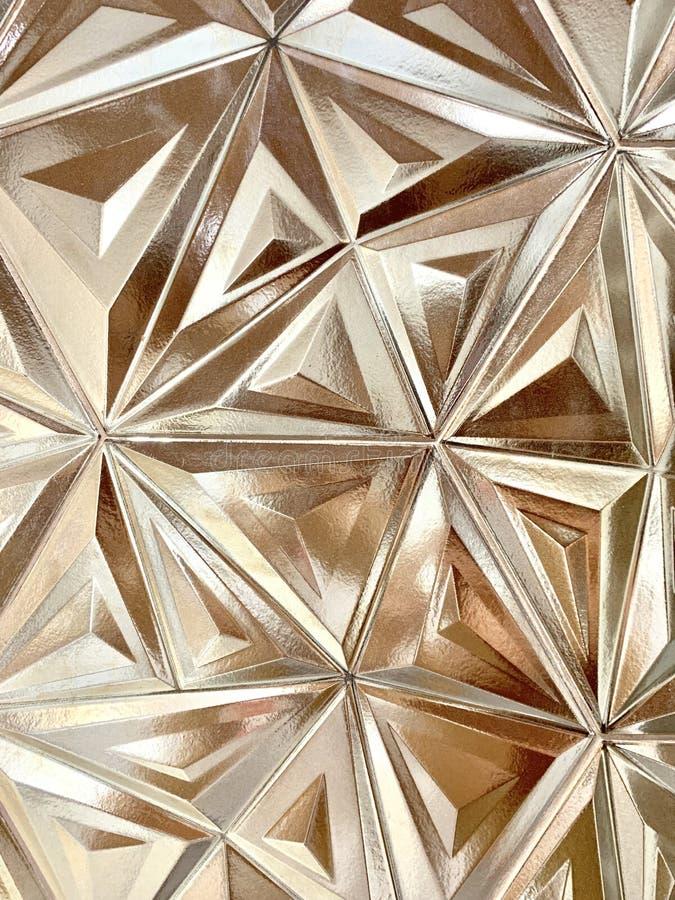 Modèle d'or de tuile de triangle photos libres de droits