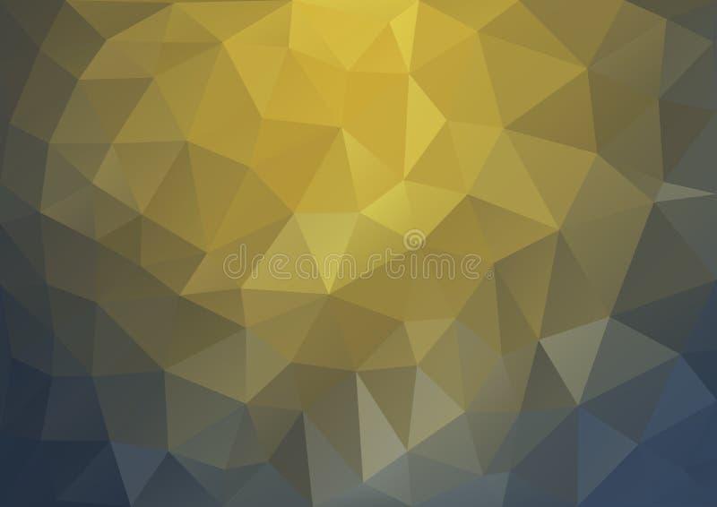 Modèle d'or géométrique illustration stock