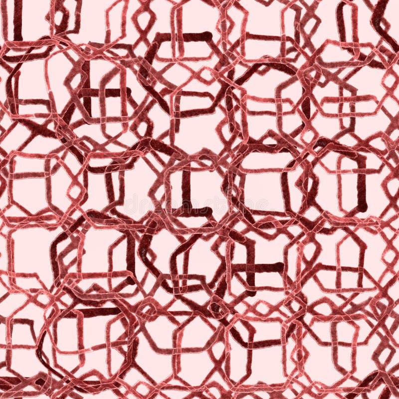Modèle d'hexagone Copie sans fin sans couture d'aquarelle géométrique illustration libre de droits