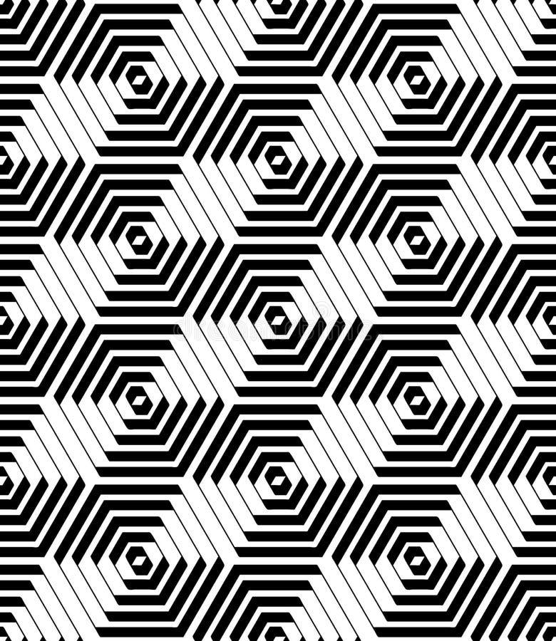 Modèle d'hexagones et de diamants Texture géométrique sans joint illustration stock