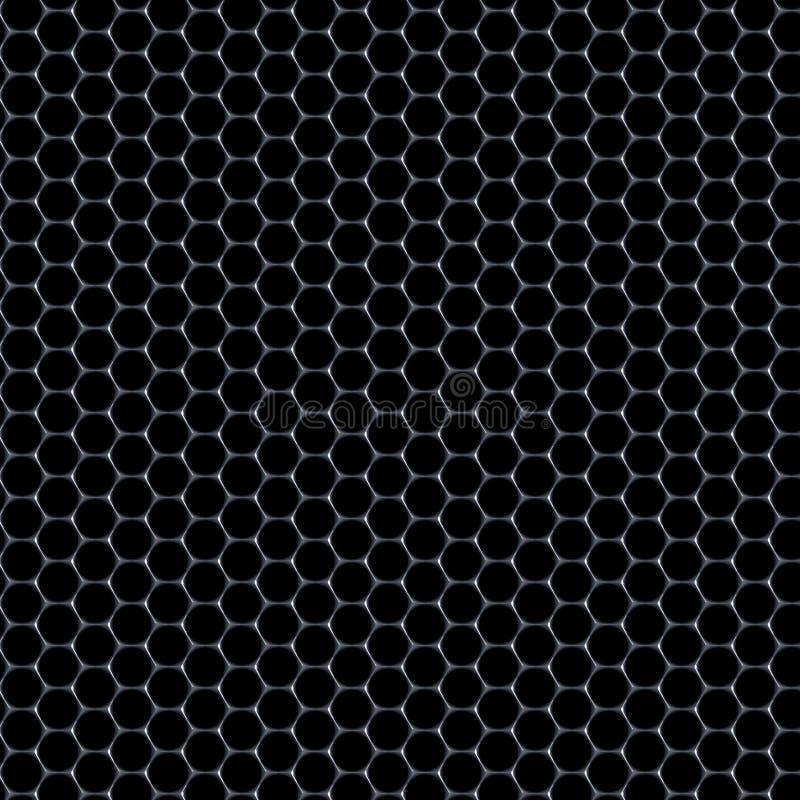 Modèle d'hexagones - matériel en verre sur le fond noir illustration stock