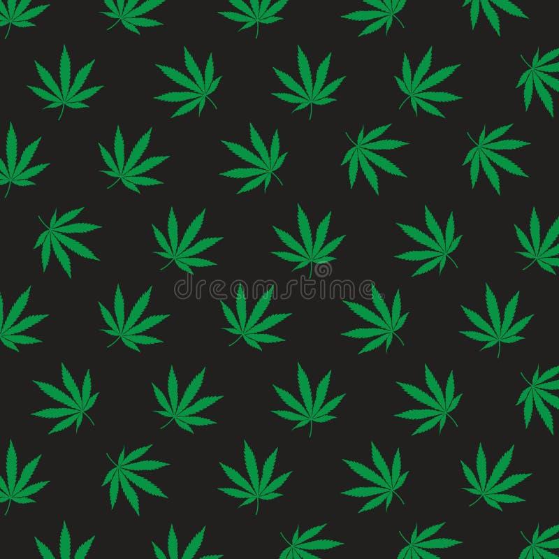 Modèle d'icône de cannabis images stock