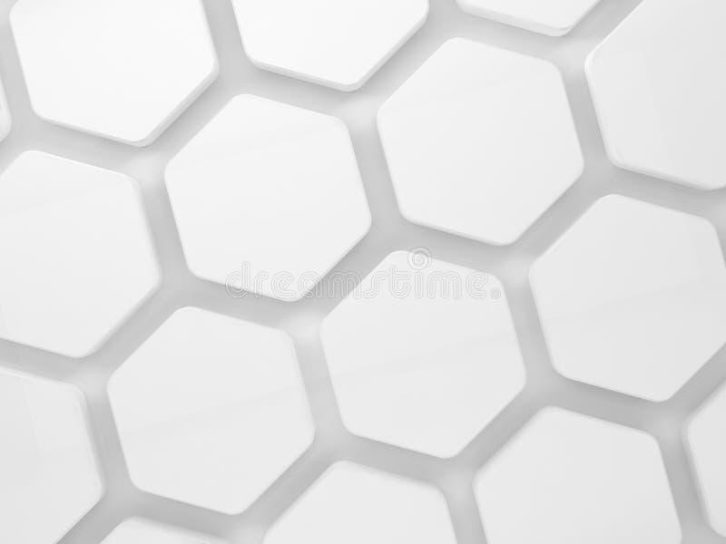 Modèle d'installation de nid d'abeilles sur le mur, 3d illustration stock