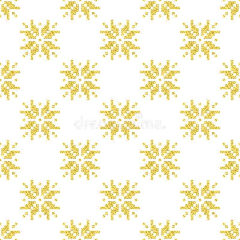 Download Modèle D'or Norvégien D'hiver Géométrique Illustration de Vecteur - Illustration du décoratif, norvégien: 76081558