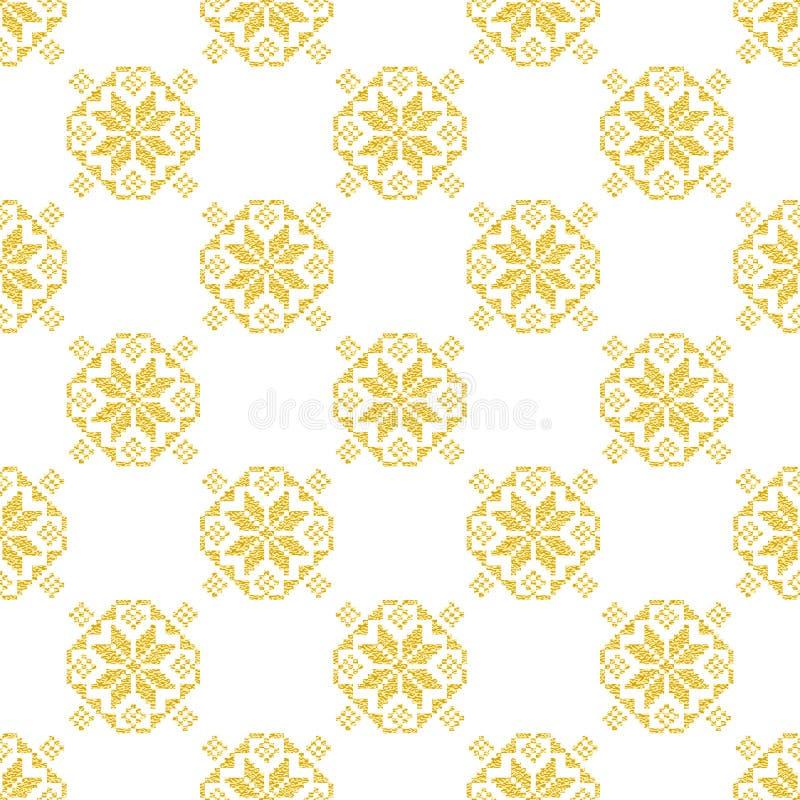 Download Modèle D'or Norvégien D'hiver Géométrique Illustration de Vecteur - Illustration du décoratif, noël: 76081598