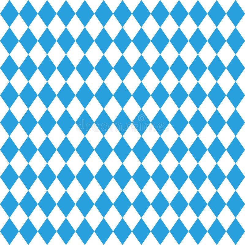 Modèle d'Octoberfest Fond de fest d'octobre Munich L'ornement bleu octoberfest de losange Modèle allemand traditionnel sans coutu illustration de vecteur