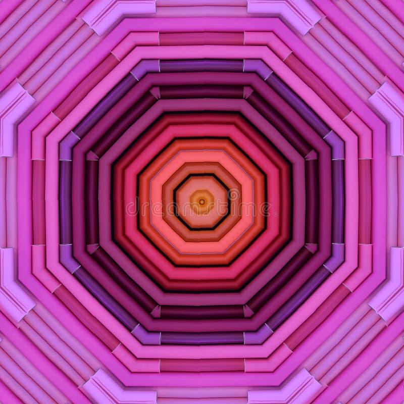 Modèle d'octogone des petits pains géométriquement disposés de papier illustration de vecteur
