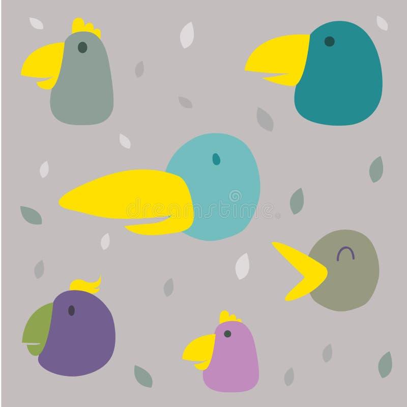 Modèle d'oiseau illustration de vecteur