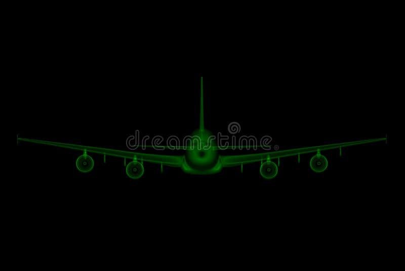 Modèle d'ordinateur d'avion de ligne illustration libre de droits