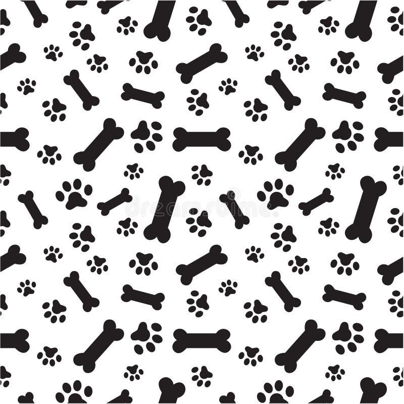 Modèle d'os et de pattes de chien illustration libre de droits
