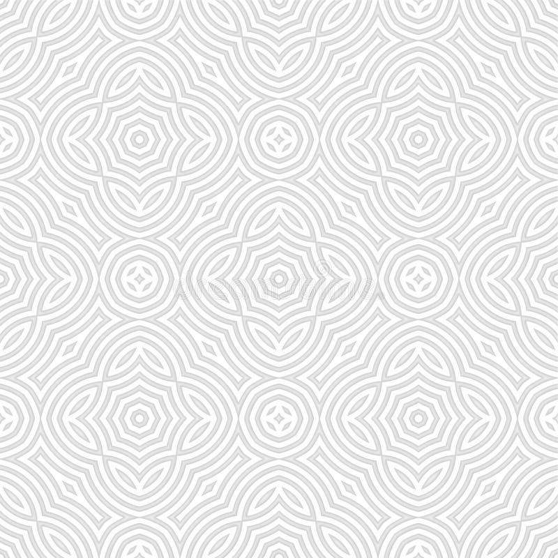 Modèle 3d sans couture floral abstrait illustration libre de droits