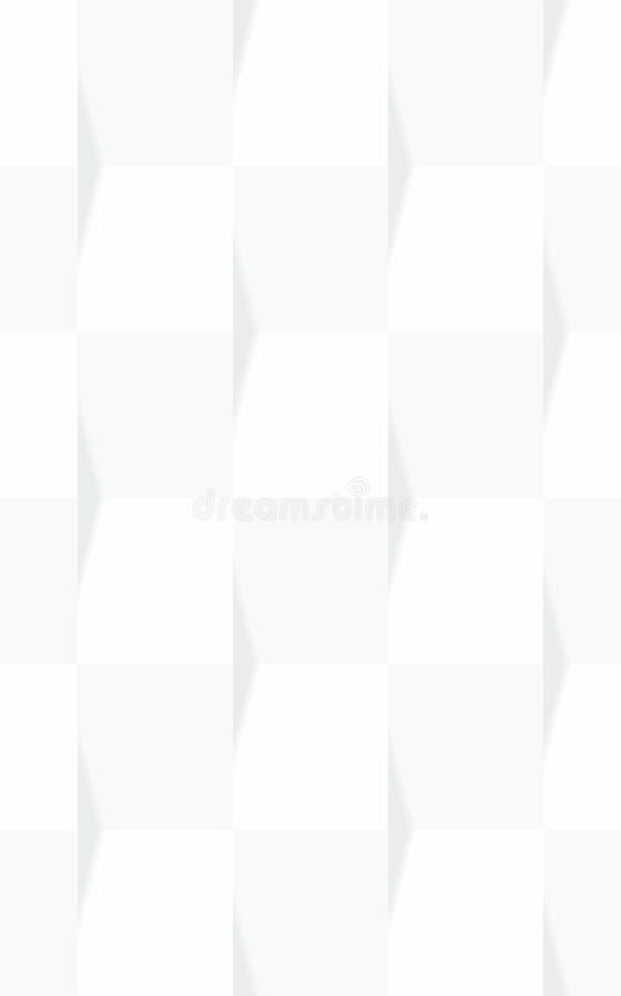 Modèle 3d sans couture floral abstrait illustration stock