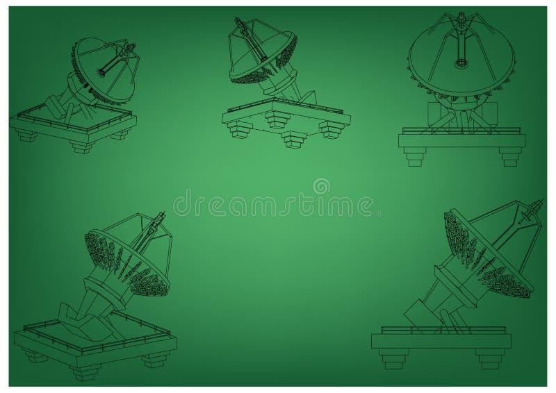 modèle 3d d'une antenne illustration libre de droits