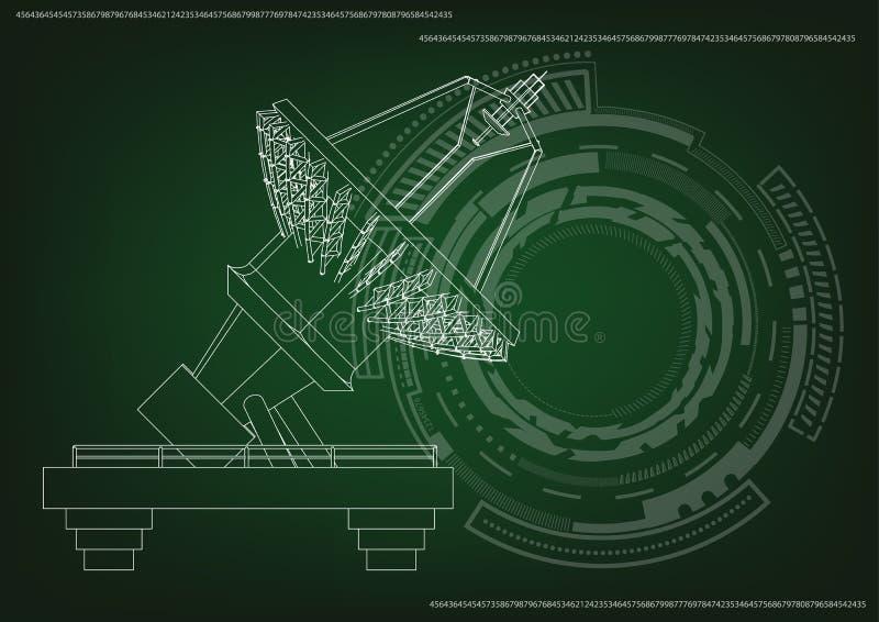 modèle 3d d'une antenne illustration stock