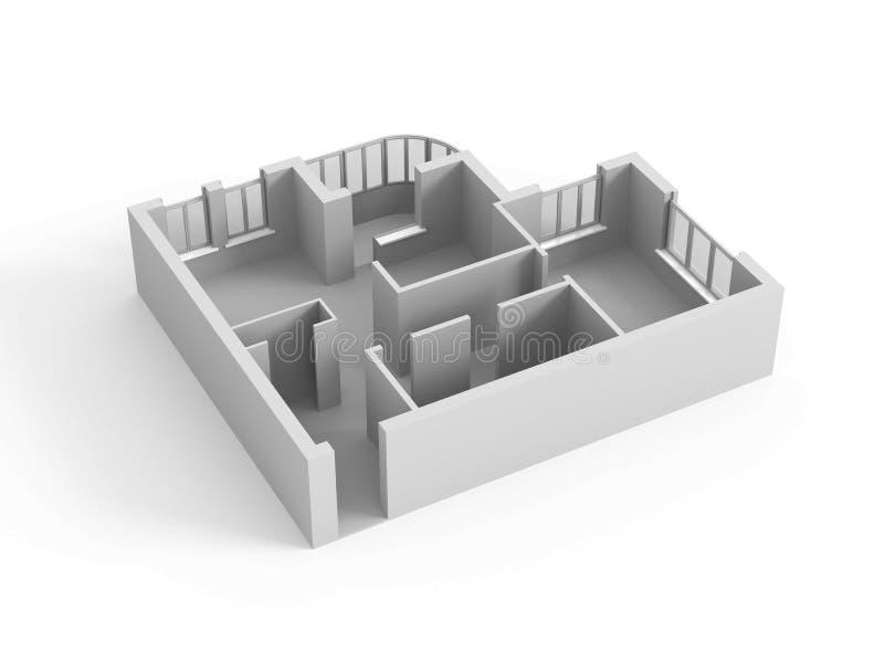 Modèle d'une maison illustration de vecteur