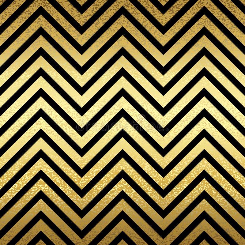 Modèle dans le zigzag illustration stock