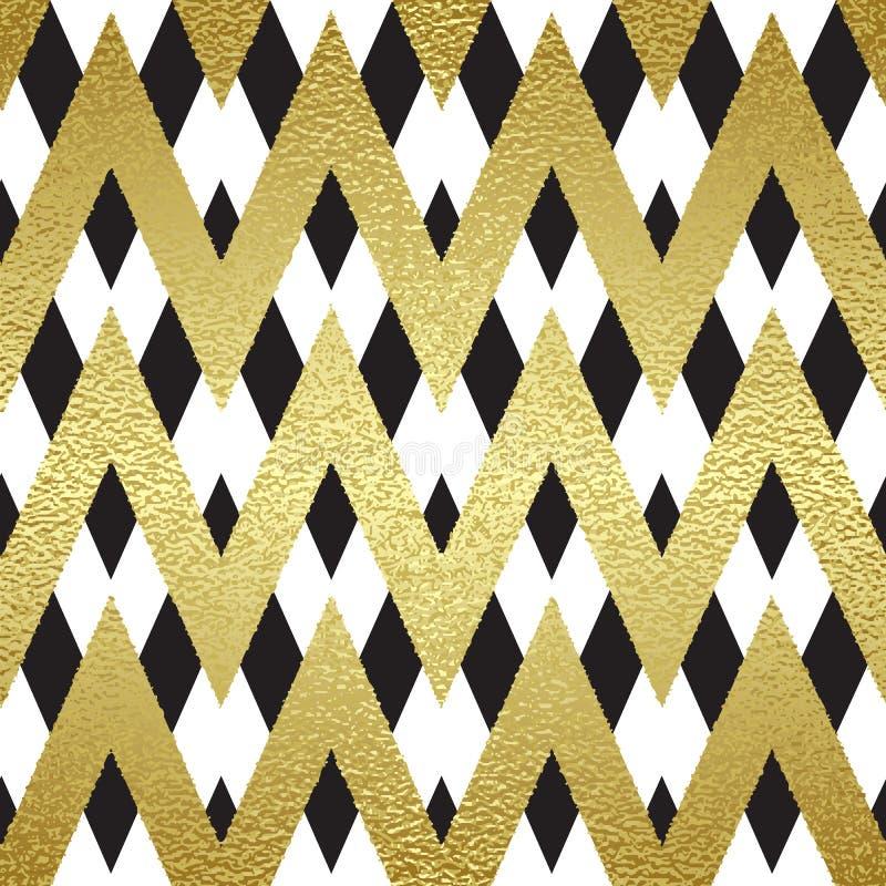 Modèle dans le zigzag illustration de vecteur