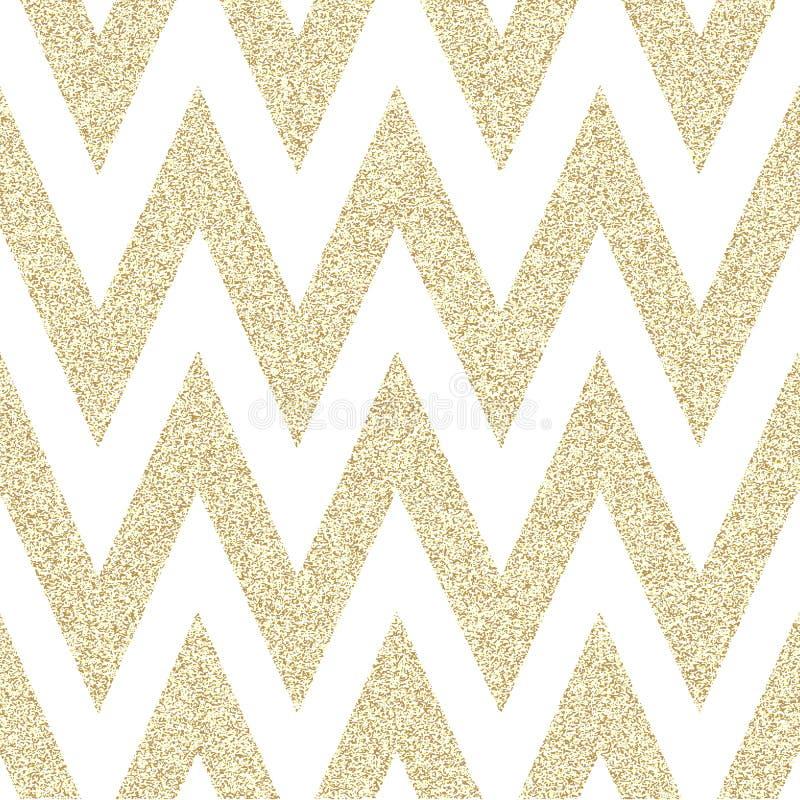 Modèle dans le zigzag Modèle sans couture de chevron classique Conception illustration stock