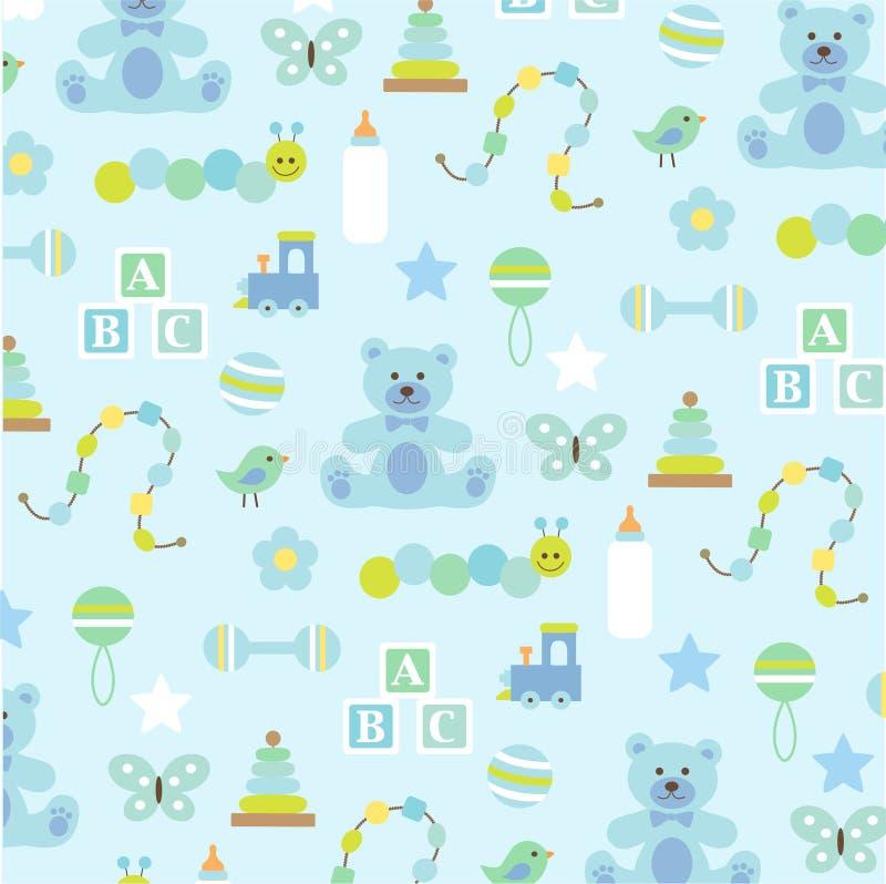 Modèle de bébé garçon sur le bleu illustration libre de droits