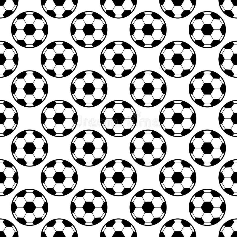 Modèle de ballon de football illustration stock