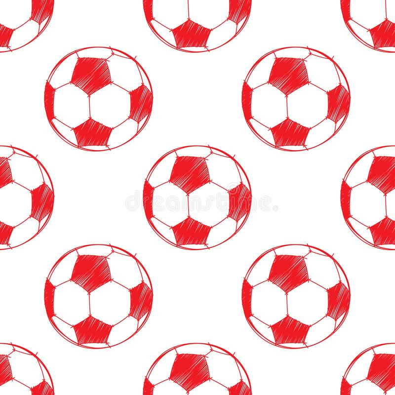 Modèle de ballon de football illustration libre de droits