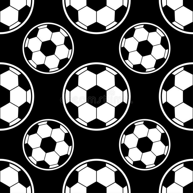 Modèle de ballon de football Peut être employé pour le textile, fond de site Web, couverture de livre, l'empaquetage illustration stock