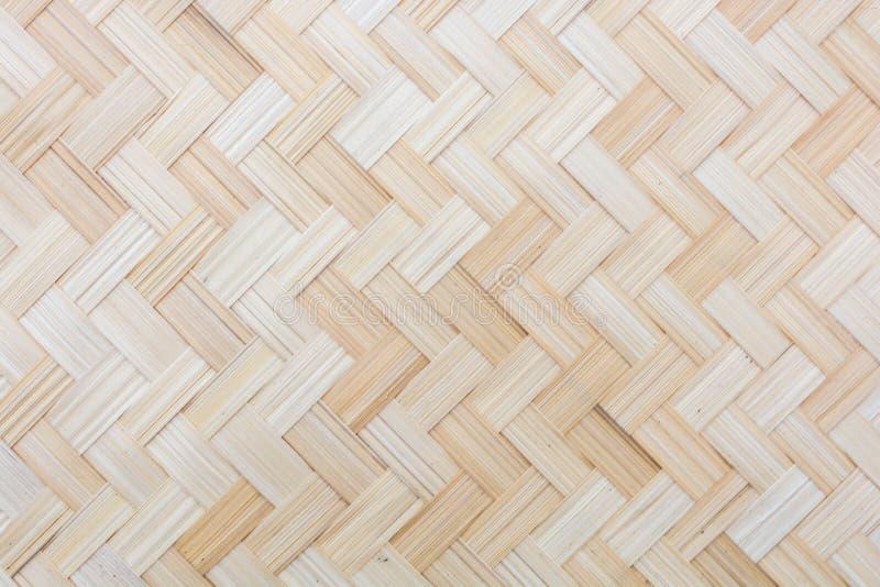 Modèle de bambou tissé images libres de droits