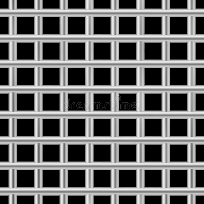 Modèle de barres carré de prison Vecteur sans couture de cellules de prison de fer illustration de vecteur
