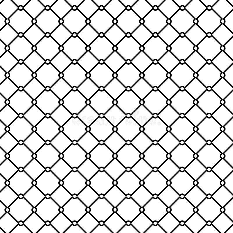 Modèle de barrière en métal, style d'ensemble illustration libre de droits