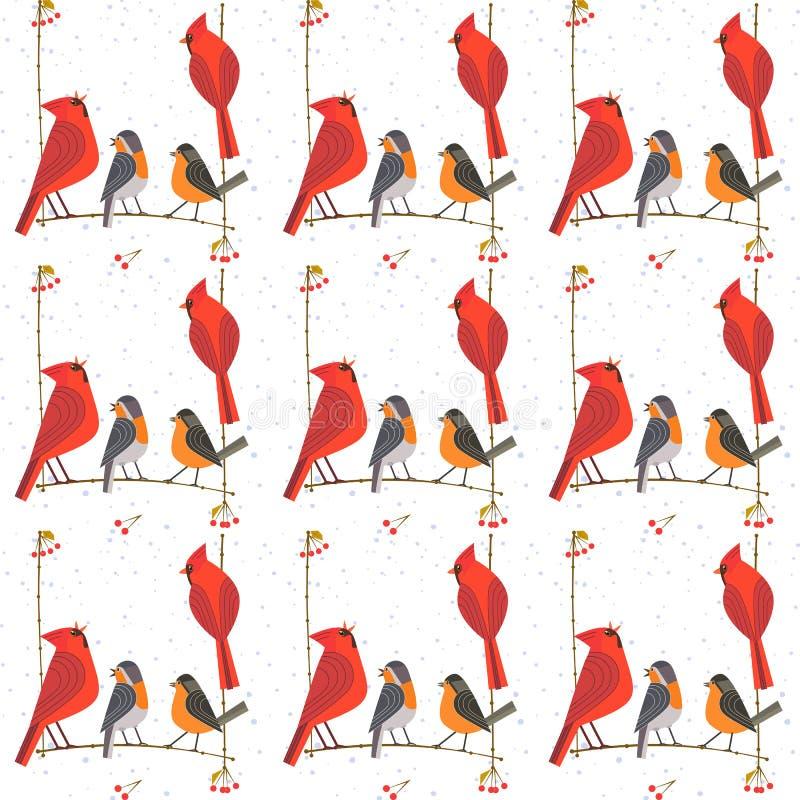 Modèle de basculage d'oiseaux illustration de vecteur