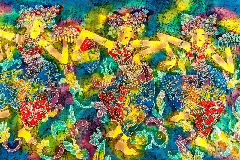 Modèle de batik illustration de vecteur