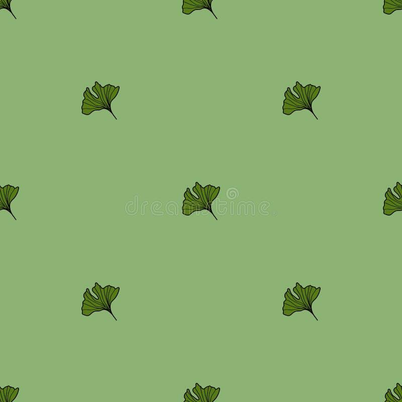 Modèle de biloba de Ginkgo illustration stock