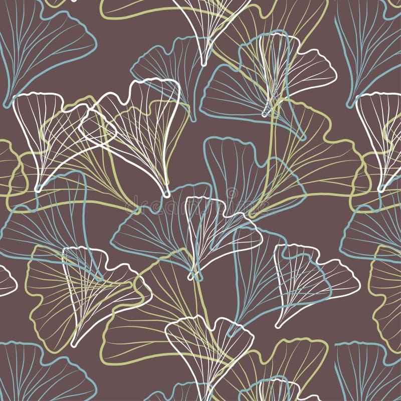 Modèle de biloba de Ginkgo illustration libre de droits