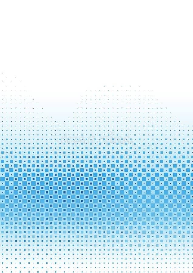 Modèle de bleu de Pixelated illustration libre de droits