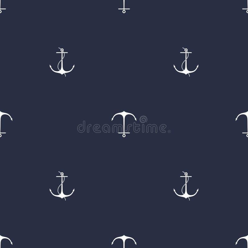 Modèle de bleu marine d'ancre illustration libre de droits