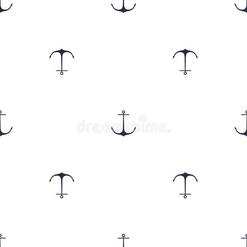 Modèle de bleu marine d'ancre illustration stock