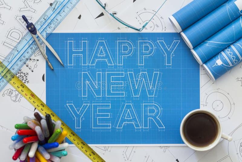Modèle de bonne année photos libres de droits