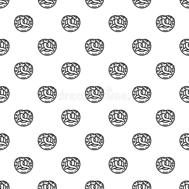 Modèle de bretzel sans couture illustration stock