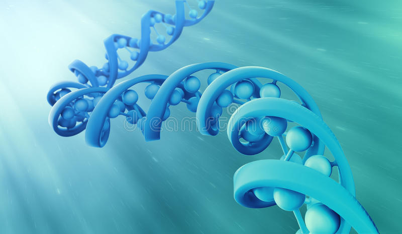 Modèle de brin d'ADN illustration libre de droits