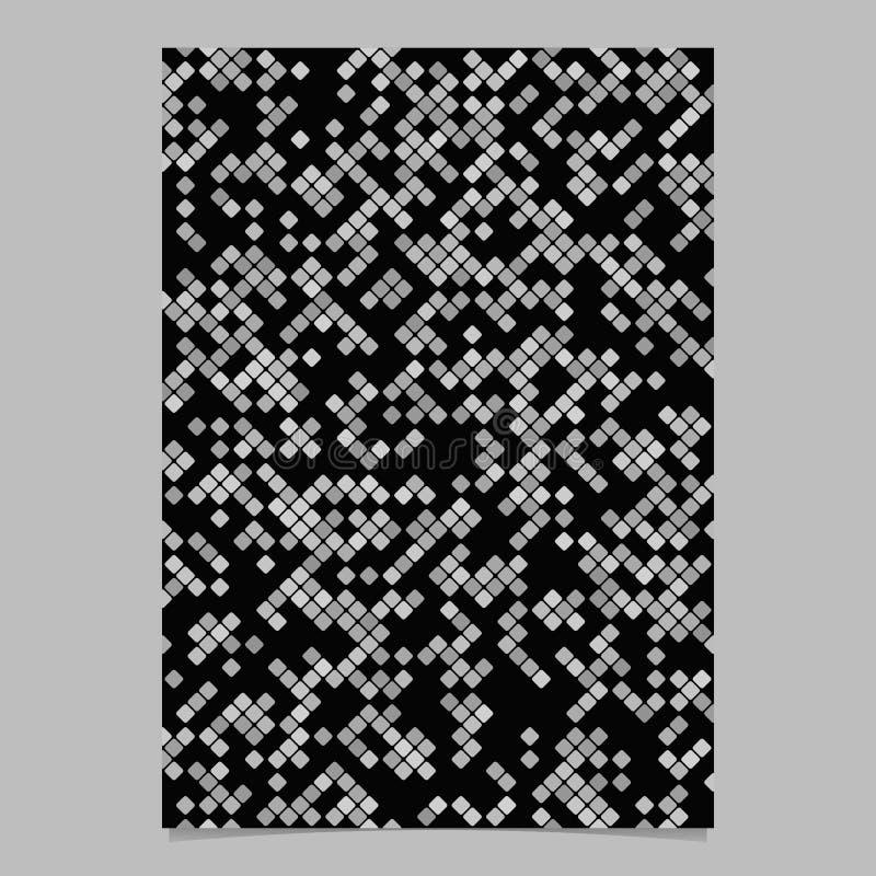 Modèle de brochure en diagonale abstraite grise illustration libre de droits