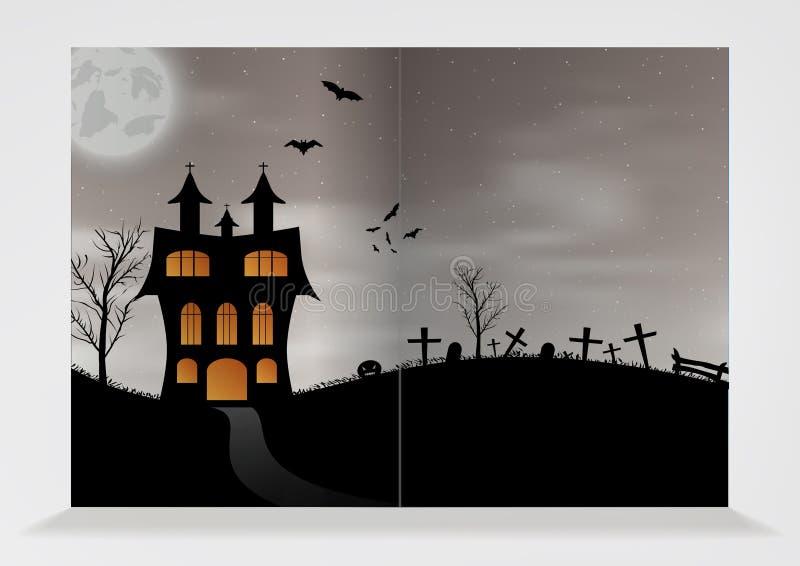 Download Modèle De Brochure Vide Pour Halloween Illustration de Vecteur - Illustration du halloween, fond: 45354238