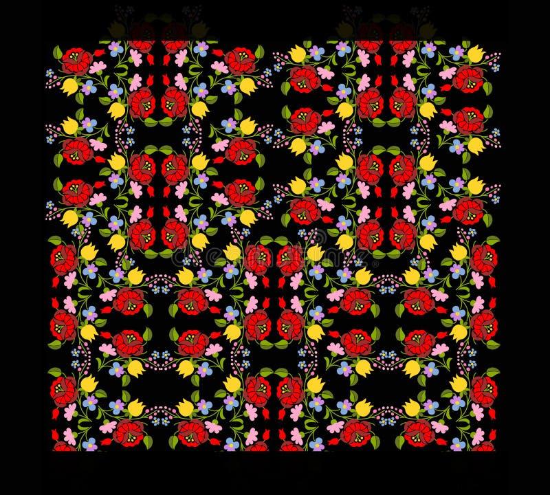 Modèle de broderie, modèle de tapis illustration stock